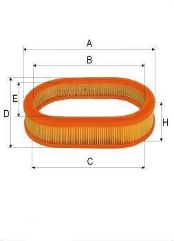ASSO AB-1057 (C3034) Gaisa filtrs
