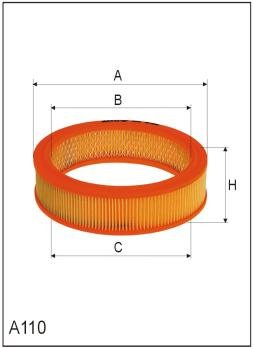 ASSO AB-1109 (C2120) Gaisa filtrs