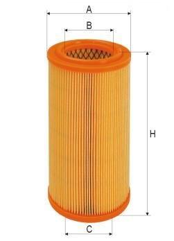 ASSO AB-1164 (C16113) Gaisa filtrs