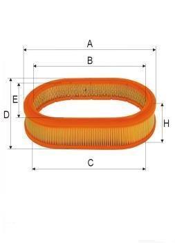 ASSO AB-1180 (C35118) Gaisa filtrs