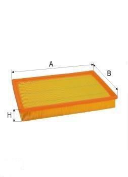 ASSO AB-1305 (C2991/1 ; C2991/2) Gaisa filtrs