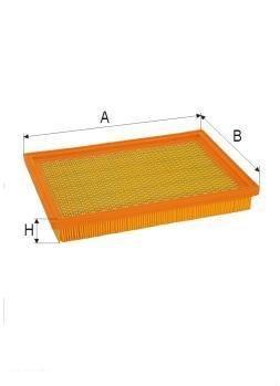 ASSO AB-1366 (C3336/1) Gaisa filtrs