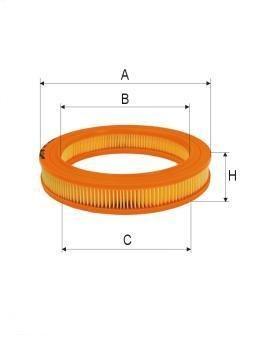 ASSO AB-1026 (C2535/1) Gaisa filtrs