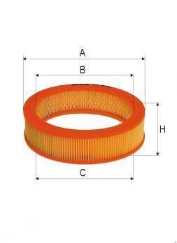 ASSO AB-1033 (C2555/2) Gaisa filtrs