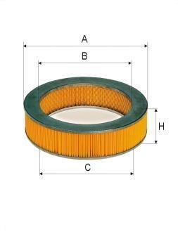 ASSO AB-1053 (C2339) Gaisa filtrs