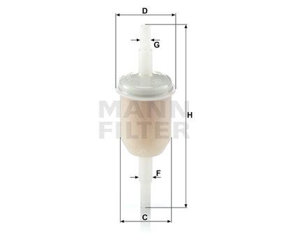 ASSO GB-202 (WK31/2) Degvielas filtri (mazie)