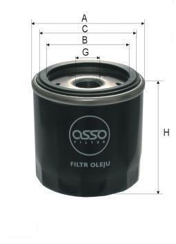 ASSO OB-7909 (WP712/2) Eļļas filtrs