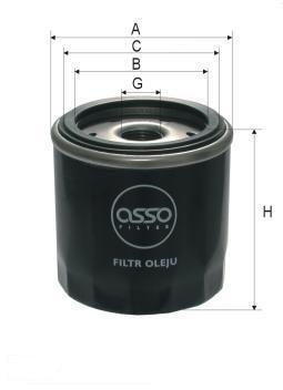 ASSO OB-7910 (W712/6) Eļļas filtrs