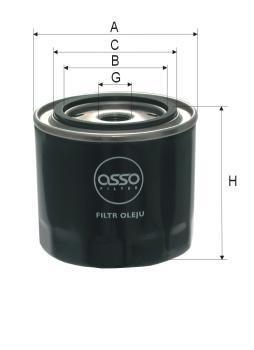ASSO OB-9666 (W940/21) Eļļas filtrs