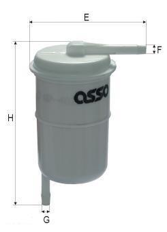 ASSO WP-4027 (WK47) Degvielas filtrs