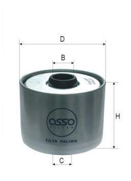 ASSO WP-4872 (P945X) Degvielas filtrs