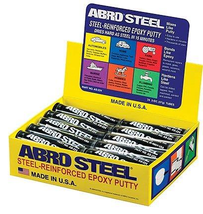 ABRO AS-224 Epoksīdu tepa ar tērauda stiprību - aukstais metāls